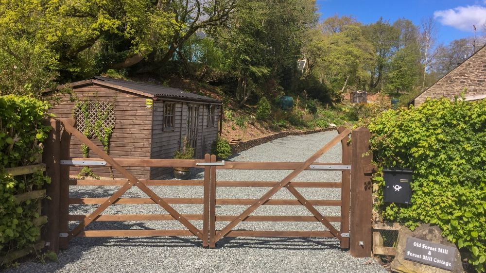 Entrance to Dog Friendly Forest Mill Cottage in the Brecon Beacons