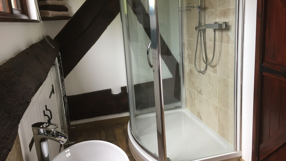 Shower room at Forest Mil Cottage