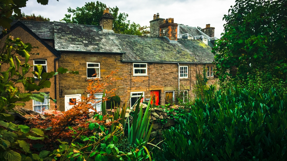 Ty Bychan holiday cottage from the Swan Hotel in Hay on Wye